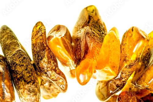 Fotomural amber bracelet in a closeup