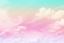 Cloud And Sky With A Pastel Co...
