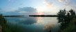 Panorama of the lake at sunset