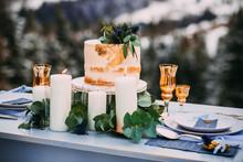 Beautiful Beige Cake Decorated...