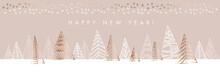 Naive Christmas Tree Horizontal Design Element