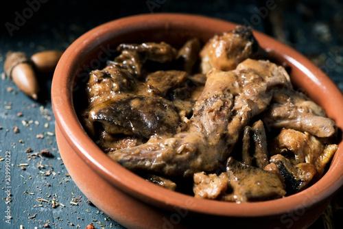 Foto spanish recipe of rabbit