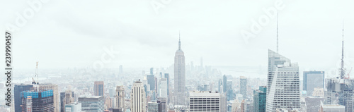 Poster New York panoramic view of new york city buildings, usa