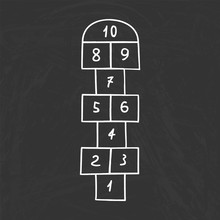 Hopscotch - Active Leisure Game For Kids Fun.