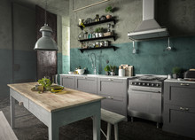 Küche Im Dreckigen Raum