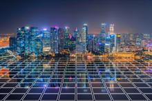 Singapore City In Marina Bay A...