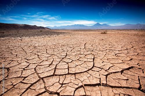 Dry earth in the San Pedro de Atacama desert Wallpaper Mural