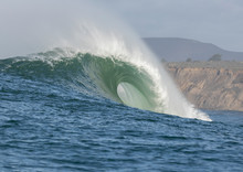 Big Wave Cresting At Mavericks...