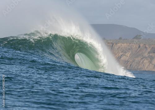 Stickers pour porte Eau Big Wave Cresting at Mavericks Surf Spot