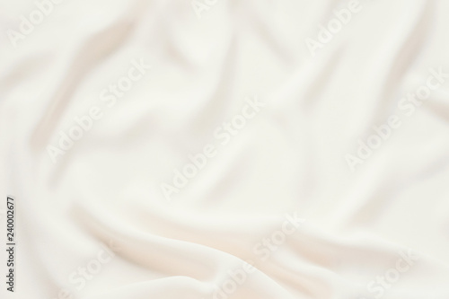 Fototapeta Matte cream delicate soft pleated fabric background