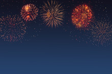Abstract Fireworks Background ...