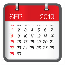 September 2019 Monthly Calenda...