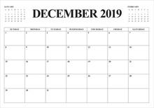 December 2019 Desk Calendar Ve...