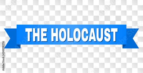 Fotografía THE HOLOCAUST text on a ribbon