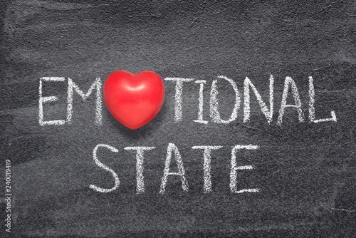 Fotografie, Obraz  emotional state heart