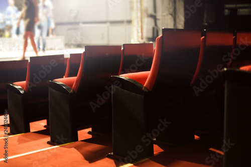 Keuken foto achterwand Theater red theater seats