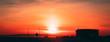 Leinwandbild Motiv Prairie sunset