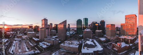 Fototapety, obrazy: Edmonton city views from skyscraper