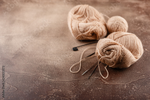 Knitting wool and knitting needles, knitting equipment Wallpaper Mural