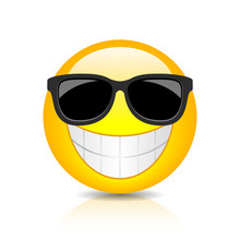Cool Happy Emoji With Sunglasses