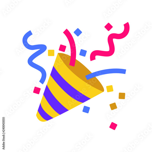 Obraz Party popper emoji vector - fototapety do salonu