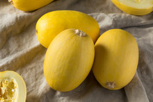 Raw Organic Yellow Spaghetti Winter Squash