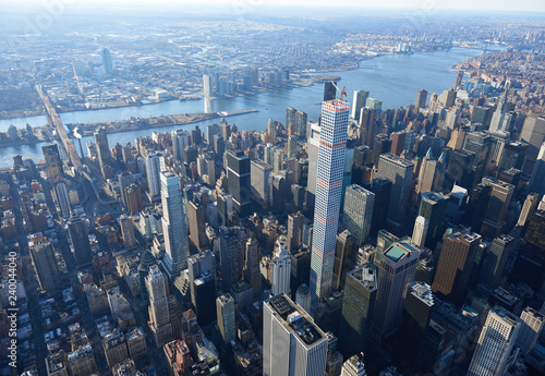 High above New York City
