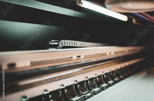 Papiers peints Tunnel Polygraphic equipment in a modern printing house copy space