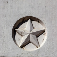 Texas Star Embedded In Concret...