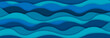 Layered paper art waves background. Sea water concept. 3D origami style design. Vector illustration