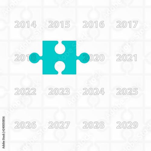 Fotografia  Puzzle year change calendar background