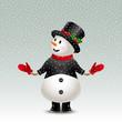 cute vintage snowman