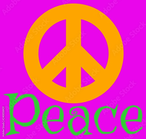 Papel de parede Peace: Sign and Word