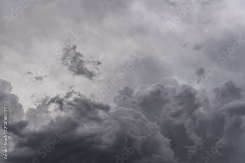 Fotografie, Obraz  Image of dark storm clouds before a thunder-storm