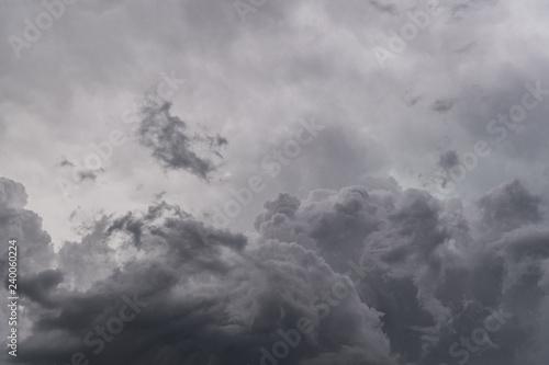 Obraz Image of dark storm clouds before a thunder-storm - fototapety do salonu