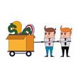 Business teamwork cartoon