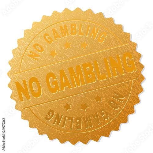 фотография  NO GAMBLING gold stamp award