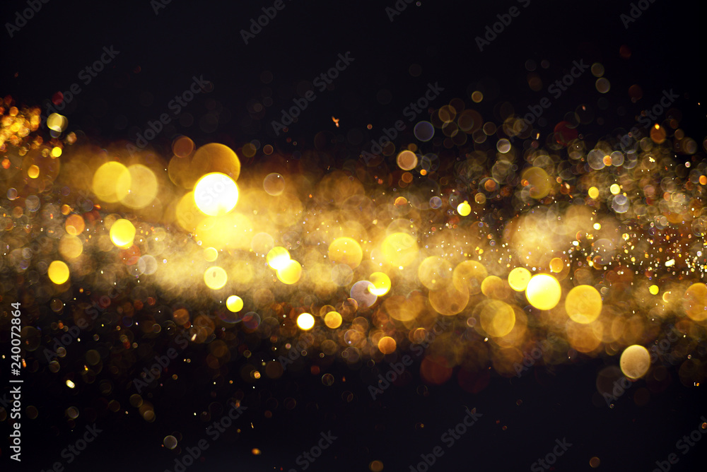 Fototapety, obrazy: Blurred background with yellow lights