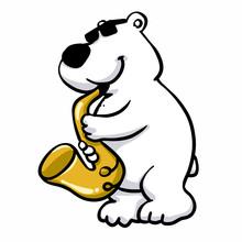 Polar Bear Saxophonist Plays Jazz