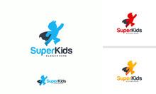 Kids Playing Logo Designs Conc...