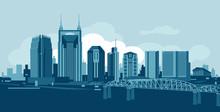 Nashvile Tennessee Skyline