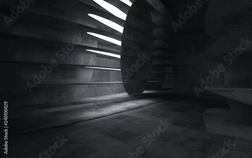 Empty dark abstract concrete room smooth interior Fototapeta