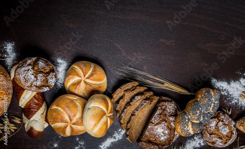 Leinwand Poster Brot - Brötchen -  Bäcker - Bäckerei - Gebäck - Backwaren