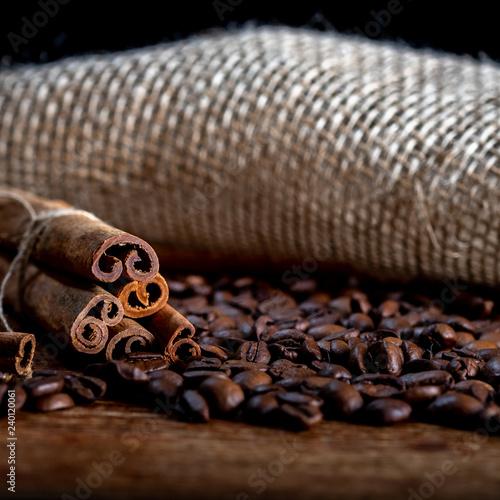 Deurstickers koffiebar Merry Christmas, coffee with cinnamon