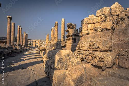 Fotografie, Obraz  Jerash - September 29, 2018: Ancient Roman ruins of Jerash, Jordan