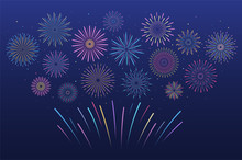 Festive Multicolored Fireworks...