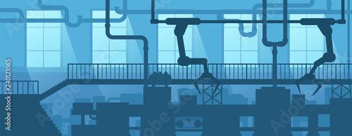 Fotografía  Industrial interior of factory, plant