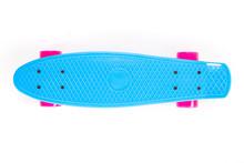 Blue Plastic Skateboard Isolated On White Background.