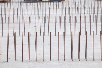 Baustahlgitter auf einer Baustelle