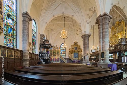 Photo  Interior of German Church (Tyska kyrkan) also called St